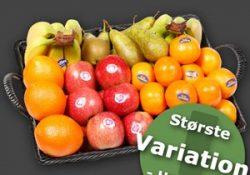 Frugtkasse fra Frugtkurven.dk - frisk frugt direkte til dit firma hver morgen